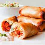 These Buffalo Chicken Spring Rolls