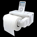 iPod Dock Toilet Paper Dispenser