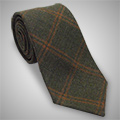 Hunter Green Silk and Wool Tie