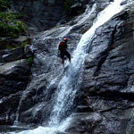 Rappelling down Mountain Waterfalls