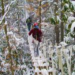 Ziplining in December