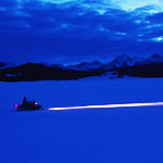 Snowmobiling at Night
