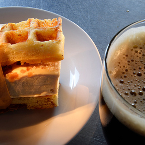 Waffles + Beer = This