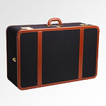Wood + Leather = This Suitcase