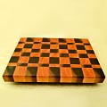 A Chess-Patterned Butcher Board
