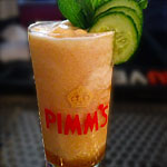 The Pimm's Cup Slushie at Merrill & Co.