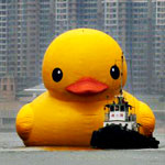Oh, Just a 1,300-Pound Rubber Duck