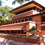 Drinking in a Frank Lloyd Wright House