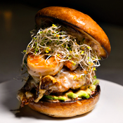 This Chorizo-and-Shrimp-Topped Burger Requires Your Lusty Gaze