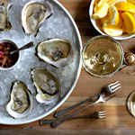 Oysters and Champagne at 1826. Yes.