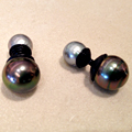 Pearl-and-Leather Cufflinks