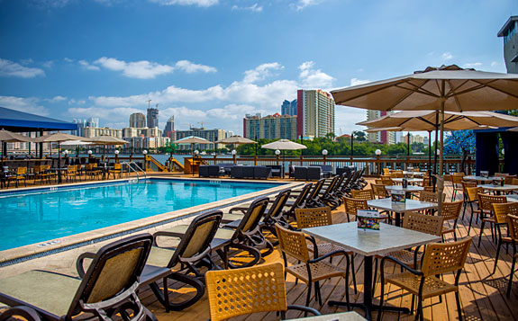 Pool Deck At Duffy S Sports Grill
